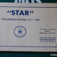 Militaria: MANUAL DE USUARIO DE PISTOLA STAR SUPER S CAL. 9MM. CORTO. GUARDIA CIVIL. MOD. 2. ULTIMA UNIDAD. Lote 65008783