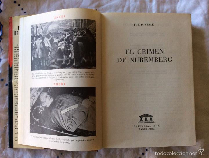 Militaria: El Crimen de Nuremberg-- Barcelona, 1954. 1ª edición. - Foto 2 - 65694222