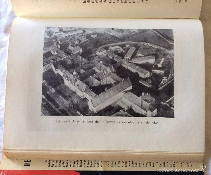 Militaria: El Crimen de Nuremberg-- Barcelona, 1954. 1ª edición. - Foto 4 - 65694222