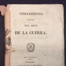 Militaria: AÑO 1828 - CONOCIMIENTOS MILITARES DEL ARTE DE LA GUERRA - MILITAR. Lote 65916946