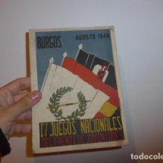 Militaria - Antiguo librito de IV juegos nacionales de frente de juventudes, burgos, 1948, falange - 66844770