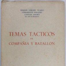 Militaria: TEMAS TÁCTICOS DE COMPAÑÍA Y BATALLÓN. AÑO 1945. Lote 67118565
