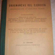 Militaria: ORDENANZAS DEL EJERCITO. 21 EDICIÓN. Lote 47106249