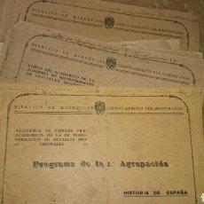 Militaria: ACADEMIA OFICIALES PROVISONALES EJERCITO MARRUECOS 1941. Lote 68187871