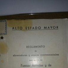 Militaria: ABREVIATURAS Y SIGNOS CONVENCIONALES FUERZAS ARMADAS 1962. Lote 68198609
