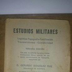Militaria: ESTUDIOS MILITARES FORTIFICACION TRANSMISIONES 1938. Lote 68449458