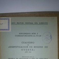 Militaria: IDENTIFICACIÓN BUQUES GUERRA 1951. Lote 68453558
