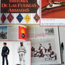 Militaria: HISTORIA DE LAS FUERZAS ARMADAS -5 TOMOS EJÉRCITO ESPAÑOL ARMAS MILITAR ESPAÑA SOLDADOS LEGIÓN LIBRO. Lote 68520881