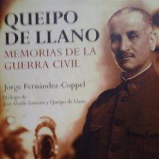 Militaria: QUEIPO DE LLANO MEMORIAS DE LA GUERRA CIVIL. Lote 69089149