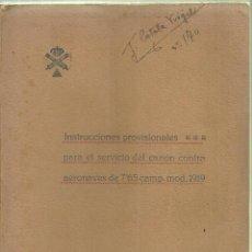 Militaria: 2319.- CAÑON CONTRA AERONAVES- SKODA DE 7,65 MODELO 1919. Lote 69820409