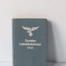 Militaria: DEUTSCHER LUFTWAFFENKALENDER 1941. LIBRO ORIGINAL DE LA SEGUNDA GUERRA MUNDIAL.. Lote 71611875