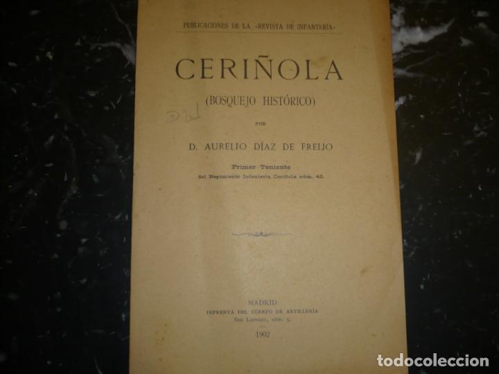 Militaria: CERIÑOLA (BOSQUEJO HISTORICO) A.DIAZ DE FREIJO 1902 MADRID - Foto 2 - 72077679