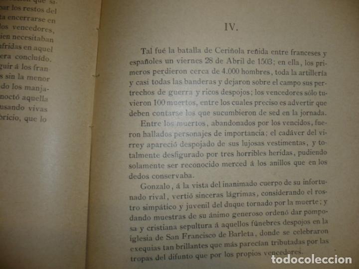 Militaria: CERIÑOLA (BOSQUEJO HISTORICO) A.DIAZ DE FREIJO 1902 MADRID - Foto 5 - 72077679