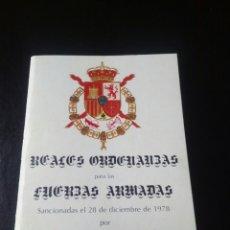Militaria: ORDENANZAS FUERZAS ARMADAS 1978. MILITAR. EJERCITO ESPAÑOL. AVIACION. JUAN CARLOS I. FRANCO. FRANQUI. Lote 73864739
