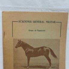 Militaria: ACADEMIA GENERAL MILITAR, GRUPO DE EQUITACION HIPOLOGIA, ZARAGOZA. Lote 74355719