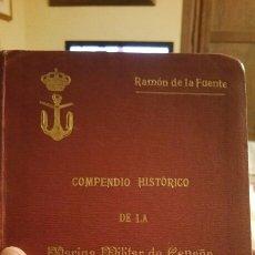 Militaria: COMPENDIO HISTÓRICO DE LA MARINA MILITAR DE ESPAÑA 1918. Lote 75072805