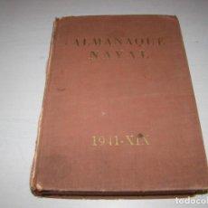 Militaria: ALMANAQUE NAVAL 1941 - XIX. Lote 75217287