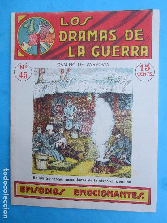 LOS DRAMAS DE LA GUERRA , EPISODIOS EMOCIONANTES N.45 CAMINO DE VARSOVIA , PRIMERA GUERRA MUNDIAL (Militar - Libros y Literatura Militar)