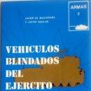 Militaria: LIBRO: VEHÍCULOS BLINDADOS DEL EJÉRCITO ESPAÑOL.. Lote 76538703