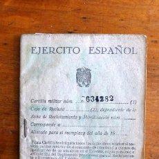 Militaria: ESPAÑA. EJÉRCITO ESPAÑOL. CARTILLA MILITAR. Lote 77393413