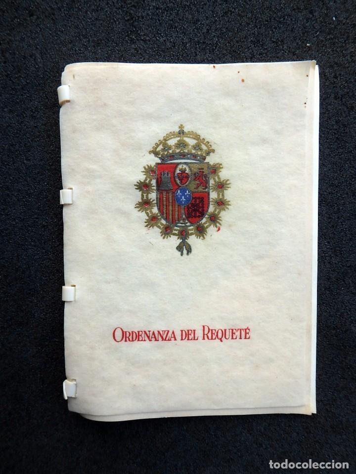 (JX-170328) ORDENANZA DEL REQUETÉ,CARLISMO,GUERRA CIVIL.ANTE DIOS NUNCA SERAS HEROE ANÓNIMO 7 PAG. (Militar - Libros y Literatura Militar)