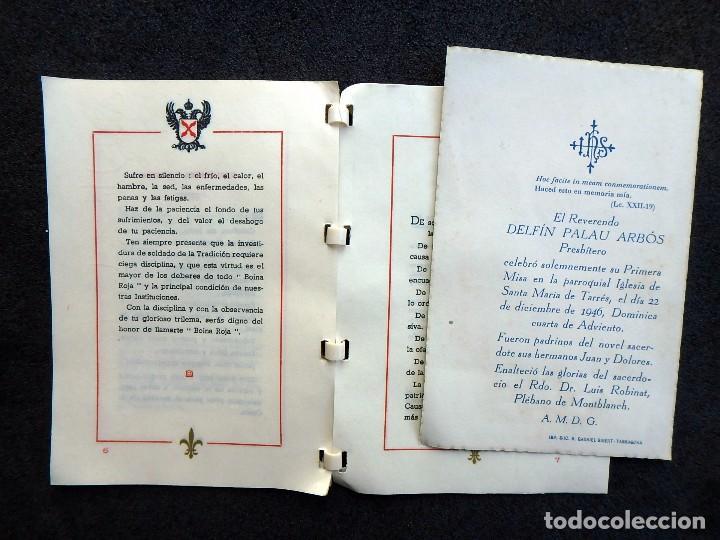 Militaria: (JX-170328) Ordenanza del Requeté,Carlismo,Guerra Civil.Ante Dios Nunca Seras Heroe Anónimo 7 pag. - Foto 4 - 78828549