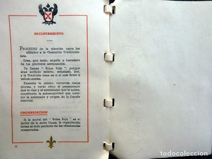 Militaria: (JX-170328) Ordenanza del Requeté,Carlismo,Guerra Civil.Ante Dios Nunca Seras Heroe Anónimo 7 pag. - Foto 5 - 78828549