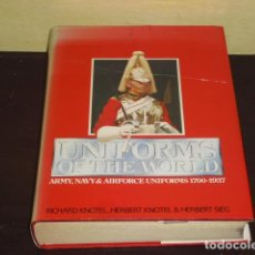 Militaria: UNIFORMS OF THE WORLD - ARMY, NAVY & AIRFORCE UNIFORMS 1700-1937 -. Lote 79045817