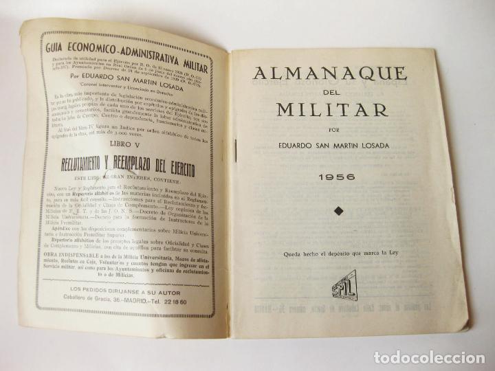 Militaria: ALMANAQUE DEL MILITAR DE 1956 - Foto 3 - 79648877