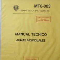 Militaria: MANUAL TECNICO ARMAS INDIVIDUALES.. Lote 175412470