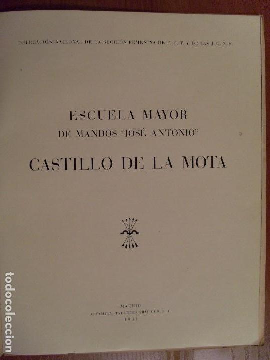 Militaria: ESCUELA MAYOR DE MANDOS -JOSÉ ANTONIO- CASTILLO DE LA MOTA / 1951 - Foto 2 - 80642942