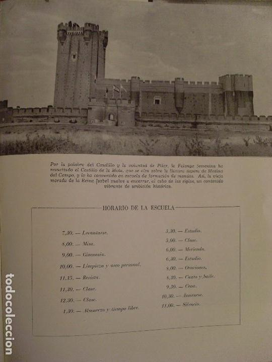 Militaria: ESCUELA MAYOR DE MANDOS -JOSÉ ANTONIO- CASTILLO DE LA MOTA / 1951 - Foto 3 - 80642942