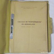 Militaria: CÁLCULO DE PERFORMANCES EN AEROHÉLICES. 1951. MÉTODO SATANDARD S.B.A.C. ÁBACOS DESPLEGABLES. Lote 80874887