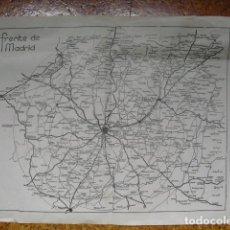 Militaria: 1937 GUERRA CIVIL MAPA DEL FRENTE DE MADRID. Lote 81675812