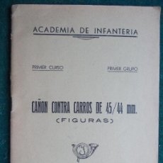 Militaria: LIBRO CAÑÓN CONTRA CARROS 45/44 MM. AÑO 1.955. Lote 84156584