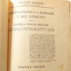 Militaria: ORDENANZAS DE LA ARMADA, ESCUELA NAVAL MILITAR. 1929.. Lote 85122768