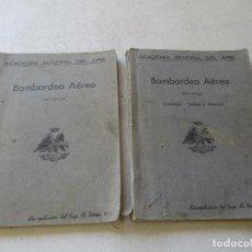 Militaria: ACADEMIA GENERAL DEL AIRE, BOMBARDEO AÉREO-2 LIBROS APUNTES Y APUNTES ( ÁMINAS-TABLAS Y ABACOS)1951. Lote 85839364