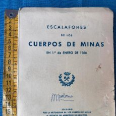 Militaria: ESCALAFONES DE LOS CUERPOS DE MINAS 1966. Lote 86050604