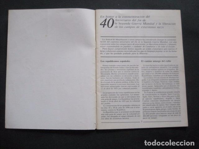 Militaria: 40 ANIVERSARIO FIN GUERRA Y LIBERACION CAMPOS EXTERMINIO NAZIS - VER FOTOS-(V- 10.944) - Foto 2 - 86158768