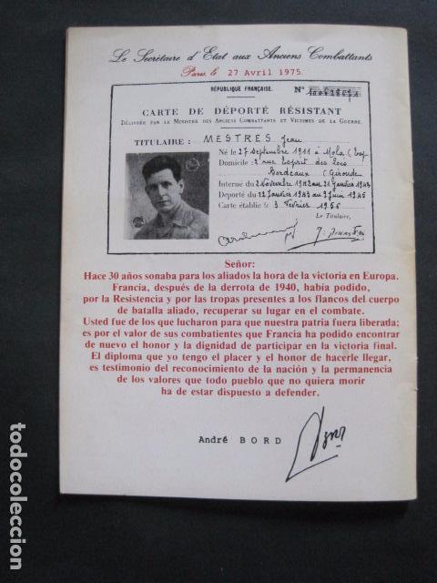 Militaria: 40 ANIVERSARIO FIN GUERRA Y LIBERACION CAMPOS EXTERMINIO NAZIS - VER FOTOS-(V- 10.944) - Foto 10 - 86158768