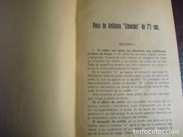 Militaria: 1937 MATERIAL DE ARTILLERIA PRIMERO Y SEGUNDO CURSO ESCUELA POPULAR DE INSTRUCTORES DE GUERRA - Foto 3 - 86225780