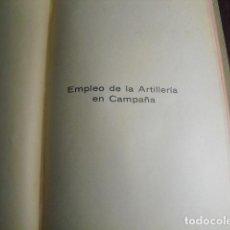 Militaria: 1937 EMPLEO DE LA ARTILLERIA EN CAMPAÑA 1º CURSO ESPECIALIDAD ARTª ESC. POPULAR DE INSTRUCTORES DE G. Lote 86226336