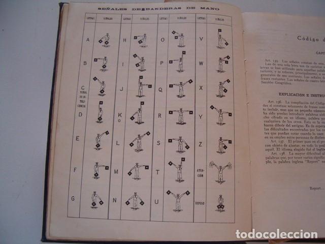 Militaria: Código Internacional de Señales 1934. Tomo I: Señales Visuales y Acústicas. RM80917. - Foto 5 - 86823448