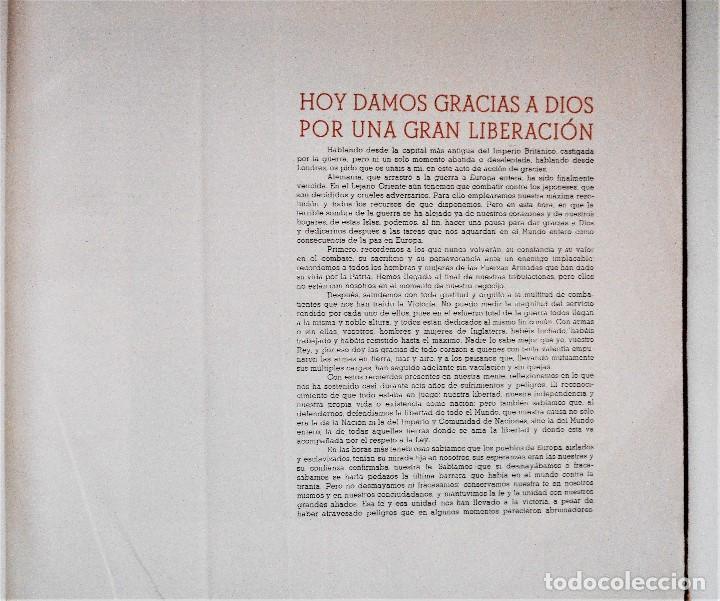 Militaria: ALBUM DE HOMENAJE A LA GRAN BRETAÑA - EDITA REVISTA LICEO AÑO 1945 - Foto 5 - 143040598