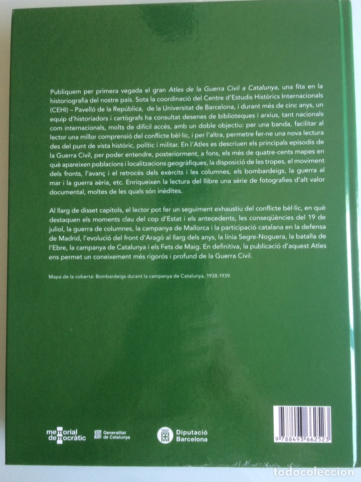Militaria: Atles de la Guerra Civil a Catalunya. VICTOR HURTADO ANTONI SEGURA JOAN VILLAROYA - Foto 2 - 87134508