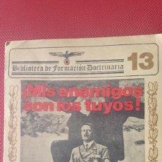 Militaria: CUADERNO PROPAGANDÍSTICO ALEMÁN (CUADERNO CON LOS DISCURSOS DEL HITLER). Lote 87154428