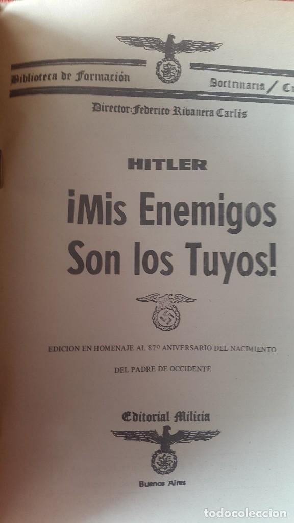 Militaria: CUADERNO PROPAGANDÍSTICO ALEMÁN (Cuaderno con los discursos del HITLER) - Foto 3 - 87154428