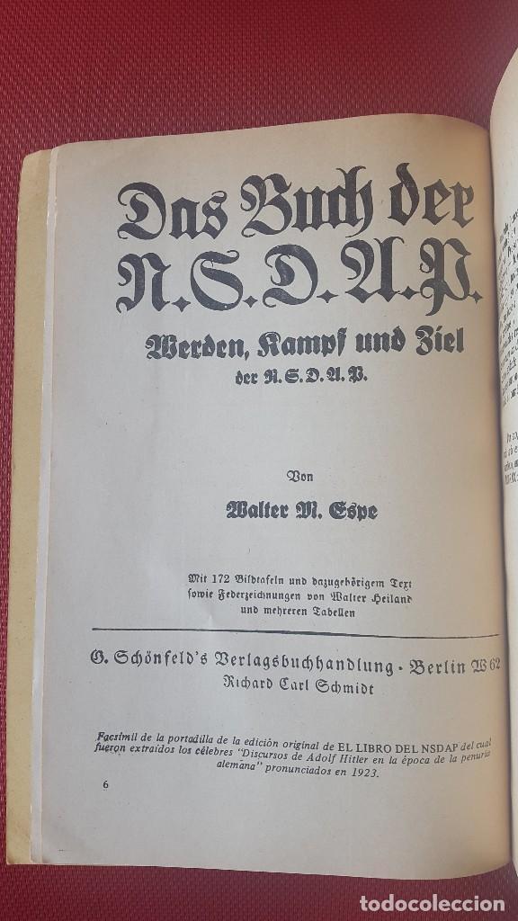 Militaria: CUADERNO PROPAGANDÍSTICO ALEMÁN (Cuaderno con los discursos del HITLER) - Foto 4 - 87154428
