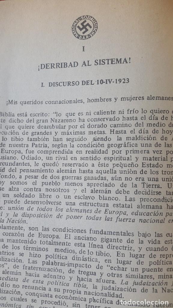 Militaria: CUADERNO PROPAGANDÍSTICO ALEMÁN (Cuaderno con los discursos del HITLER) - Foto 5 - 87154428