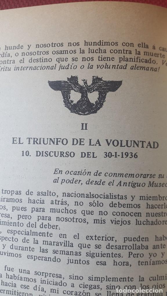 Militaria: CUADERNO PROPAGANDÍSTICO ALEMÁN (Cuaderno con los discursos del HITLER) - Foto 6 - 87154428